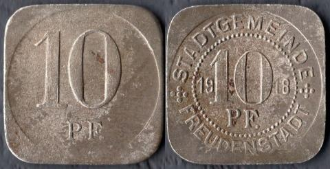 Фройденштадт 10 пфеннигов 1918