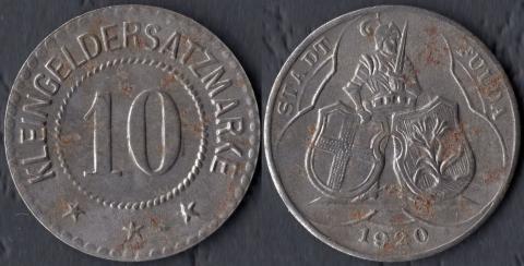 Фульда 10 пфеннигов 1920