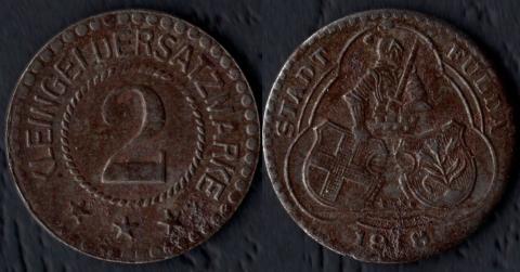Фульда 2 пфеннига 1918