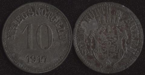 Фюрт 10 пфеннигов 1917 (цинк)