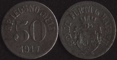 Фюрт 50 пфеннигов 1917