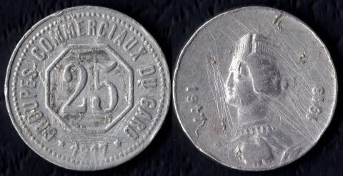 Гар 25 сантим 1917