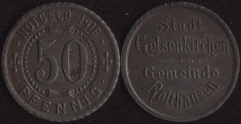 Гельзенкирхен 50 пфеннигов 1919