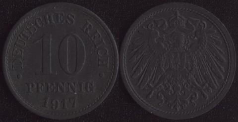 Германия 10 пфеннигов 1917 (цинк)