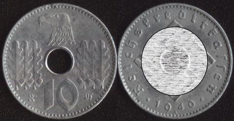 Германия 10 пфеннигов 1940