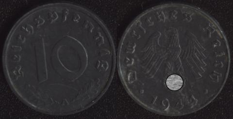 Германия 10 пфеннигов 1944