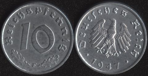 Германия 10 пфеннигов 1947