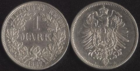 Германия 1 марка 1887