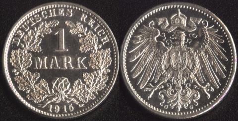 Германия 1 марка 1915