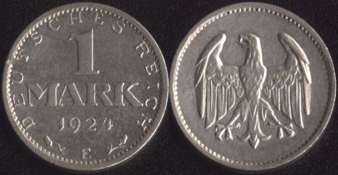 Германия 1 марка 1924