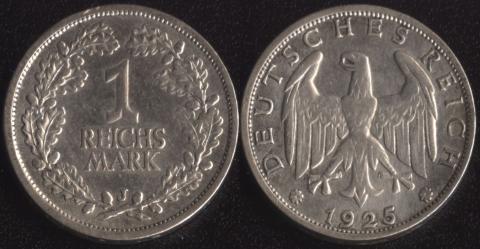 Германия 1 рейхсмарка 1925