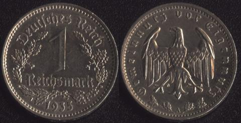 Германия 1 марка 1935