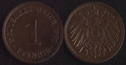 Германия 1 пфенниг 1901