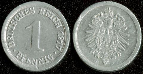 Германия 1 пфенниг 1917