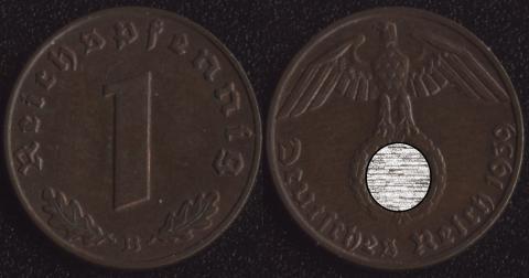 Германия 1 пфенниг 1939