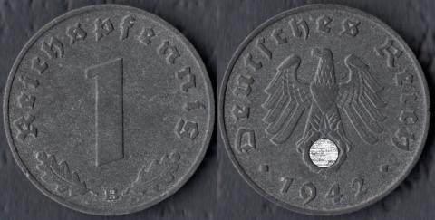 Германия 1 пфенниг 1942