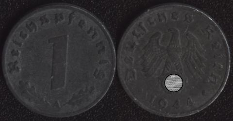 Германия 1 пфенниг 1944