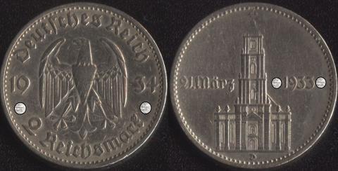 Германия 2 марки 1934