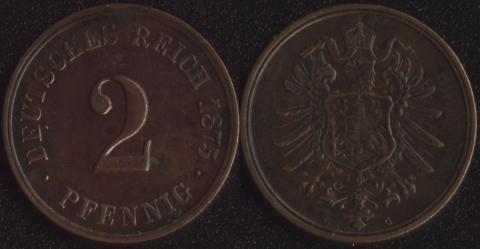 Германия 2 пфеннига 1875