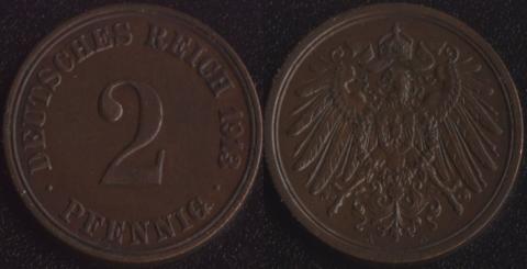 Германия 2 пфеннига 1913