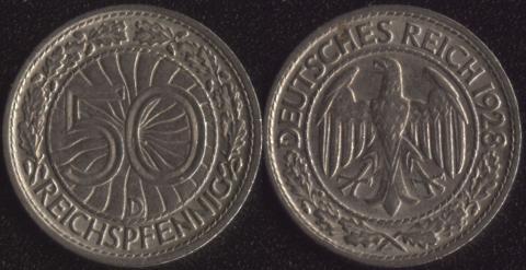 Германия 50 рейхспфеннигов 1928