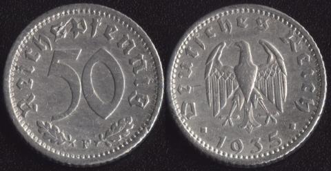 Германия 50 пфеннигов 1935