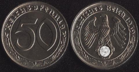 Германия 50 пфеннигов 1939