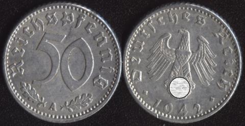 Германия 50 пфеннигов 1942
