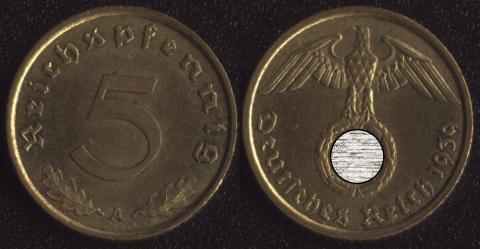 Германия 5 пфеннигов 1939