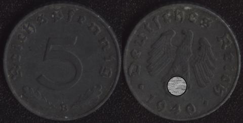 Германия 5 пфеннигов 1940