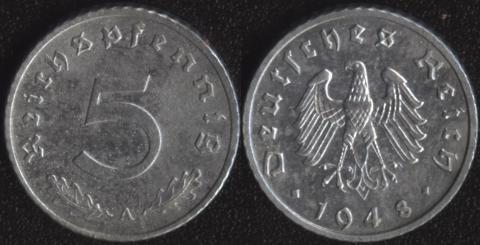 Германия 5 пфеннигов 1948