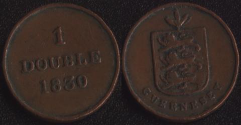 Гернси 1 дубль 1830