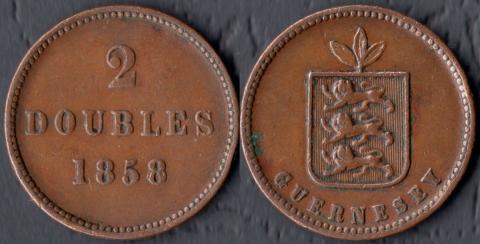 Гернси 2 дубля 1858