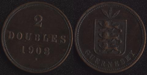 Гернси 2 дубля 1908