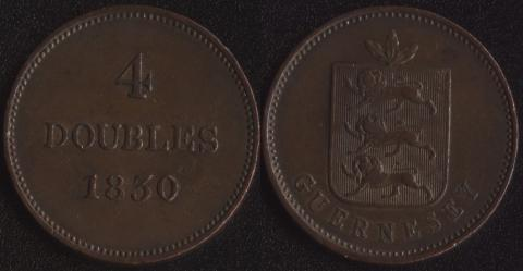 Гернси 4 дубля 1830