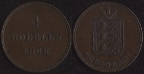 Гернси 4 дубля 1868