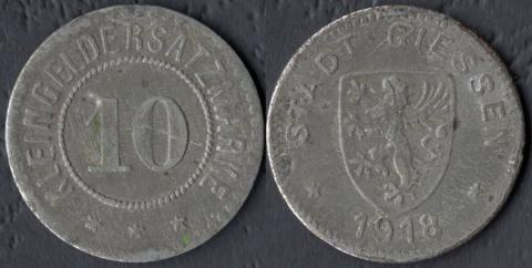 Гиссен 10 пфеннигов 1918 (цинк)
