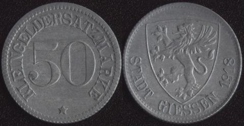 Гиссен 50 пфеннигов 1918