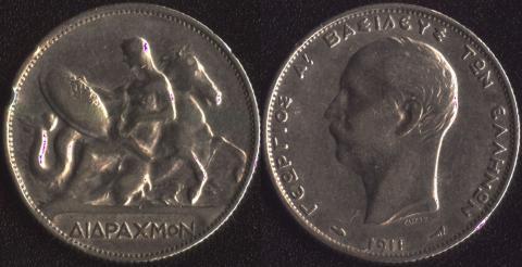 Греция 2 драхмы 1911
