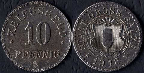 Гросс-Зальце 10 пфеннигов 1918