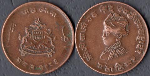 Гвалиор 1/4 анна 1929