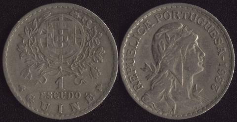 Гвинея 1 эскудо 1933