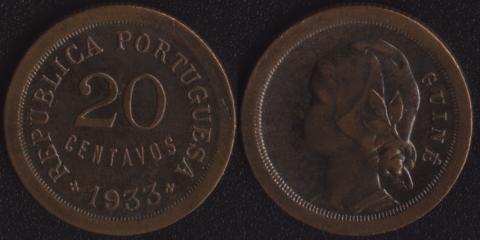 Гвинея 20 сентаво 1933