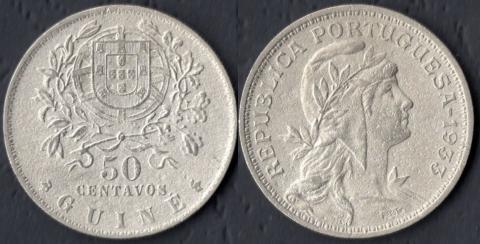 Гвинея 50 сентаво 1933