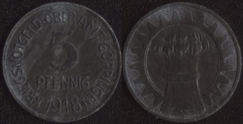 Гёппинген 5 пфеннигов 1918