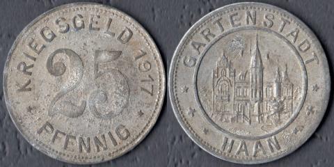 Хаан 25 пфеннигов 1917