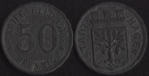 Хаген 50 пфеннигов 1918