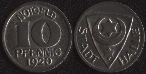 Халле 10 пфеннигов 1920
