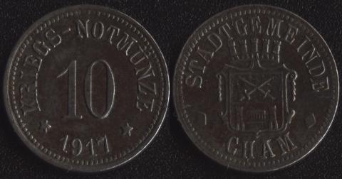 Кам 10 пфеннигов 1917
