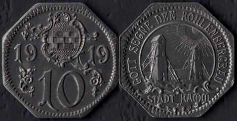 Хамм 10 пфеннигов 1919
